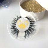Großhandelsweiches natürliches Haar-handgemachte Nerz-Wimpern der Wimper-3D
