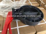 Valvola a farfalla manuale dell'anello Pn10 della sede della cialda utilizzata sui tubi del rifornimento idrico