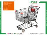 スーパーマーケットの金属によってめっきされる買物をするトロリーカート