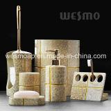 Золотистое вспомогательное оборудование ванной комнаты Polyresin (WBP0304A)