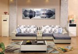 Sofá em forma de L moderno confortável
