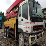 10tyres / 6 cylinders Isuzu 6X4 Truck Putzmeister Bomba de concreto montado