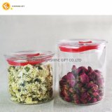 Custom manual larva Tea Coffee Food Healthy Glass STORAGE Jar