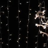 Cortina de luz de Navidad LED luminoso parpadeante luz de LED conectable