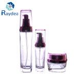 Frasco essencial de vidro cosmético redondo