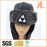 Шлем 100% зимы Ushanka искусственной шерсти полиэфира вышитый с щитком уха