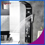 Affichage de la température de l'eau de fumée Massage Rainfall Stainless Steel Black Shower Panel