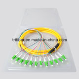 12 coleta unimodal LC/APC de la fibra de la base G652D
