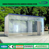 Quiosque de varejo modular de aço Prefab do alimento da cafetaria do telefone móvel