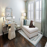 Hochwertige doppelte glasig-glänzende Tür des Gitter-Entwurfs-weiße Profil-UPVC