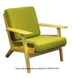 Café moderno de lazer Hans Wegner Plank Wooden One Seater Sofa