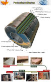 Feuille enduite d'acier inoxydable de la surface 201 du numéro 4 de film de PVC