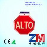 Solar octogonal de señal de tráfico / LED parpadeando Cartel