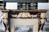 Personalizada decorativa chimenea de mármol tallado a mano (SY-MF288)