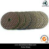 100mm Velcro Backing Flexible Dry Polishing Abrasive Pad for Granite / Marble / Stone