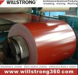 Bobine en aluminium recouvert de couleur avec revêtement PVDF pour revêtement de construction
