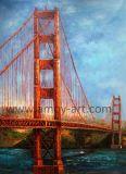 Francisco-goldene Brücken-Ölgemälde-Wiedergabe