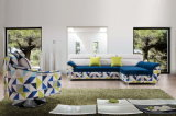 스토리지 회전 의자 현대적인 패브릭 코너 소파 침대