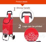 Preço mais baixo com tecido de qualidade superior Carrinho de Compras Saco com Rodas