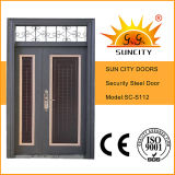Città Exterior Steel Safety Door di Sun con Transom Window (SC-S112)
