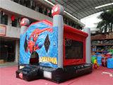 En14960 Commerciële Opblaasbare Springende Uitsmijter chb390-4 van het Kasteel Spiderman