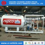 Nouveau design standard de l'ASME 10 tonnes de la station de patin de remplissage de gaz GPL sur la vente