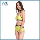 Contraste de cintura elevada Monokini de dois gumes Maiôs Fashion Bikini