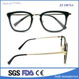 Acétate de métal Wraped Eyewear Lunettes Les lunettes les trames optique unique