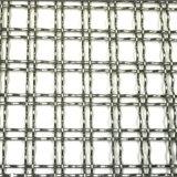デュプレックス正方形の装飾的なステンレス鋼の編まれたひだを付けられた金網