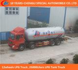35000 litri di GPL di camion di serbatoio per gas che trasporta e che riempie