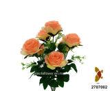 Искусственний/пластичный/Silk куст роз цветка (2707002)
