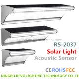 Luz solar de aluminio del detector acústico (RS2037)
