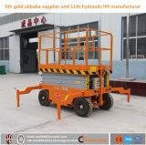 Chariot élévateur à ciseaux hydraulique manuel mobile