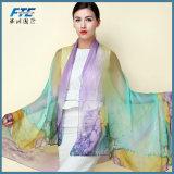 Chiffon- Georgette-Silk Schal-Schal-weiblicher langer Entwurf