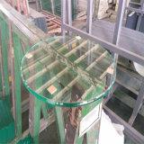 4mm bords plats en verre trempé clair