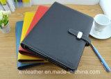 Custom cuero pu libro diario en papel de tapa dura, suministros de oficina