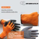 K-144 7ゲージのループアクリルのしわの乳液の働く安全手袋