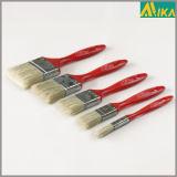 3PCS Red Plastic Handle Black Bristle Paint Brush Set