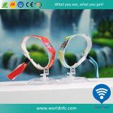 Профессиональной Wristband празднества прямой связи с розничной торговлей фабрики изготовленный на заказ сплетенный тканью