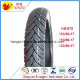 Neumático sin tubo de la motocicleta del neumático de la motocicleta para la motocicleta 100/80-17