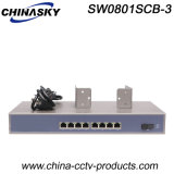 8 Sc des Kanal-Rack-Mount Gigabit-Ethernet-Schalter-RJ45 (SW0801SCB-3)