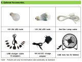 Sistema solare domestico di fuori-Griglia con l'indicatore luminoso del LED