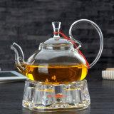 600mlホウケイ酸塩ガラスのティーセットのガラスティーカップの一定のガラス茶鍋セット