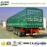 Un bestiame pratico dei 3 assi recinta il rimorchio del camion del palo del carico semi