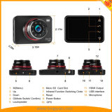 3.0Inch Super noche Cam con guión de la versión 8 IR LED Grabación en bucle GPS WDR