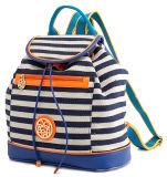 Nouveau Fashion Striped Canvas Backpack Bag (pH1706) de Style Girl