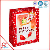Chaussettes rouges Hot Stamping Latest Paper Shopping Bags for Christmas Holiday