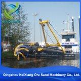 カッターの吸引の浚渫機の船か川の浚渫船