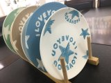 Het hete Porselein van de Verkoop plateert de Ceramische Plaat van het Diner van de Schotel van het Overdrukplaatje