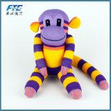 최신 인기 상품 양말 원숭이 장난감 인형이 연약한 채워진 견면 벨벳 원숭이에 의하여 농담을 한다